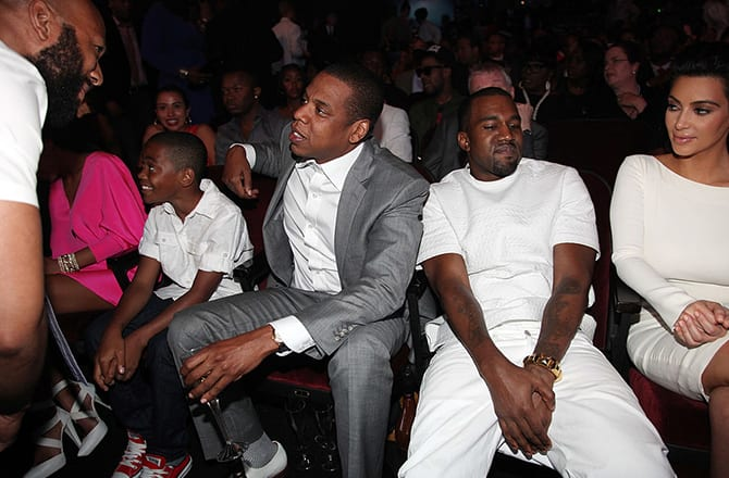 This is a photo of Jay Z and Kanye West.