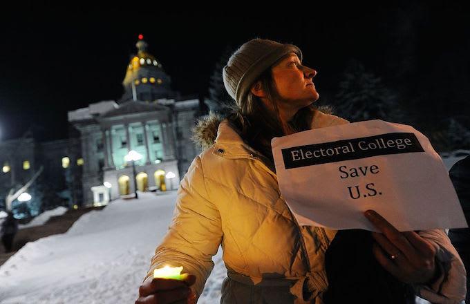 Electoral College protest CO