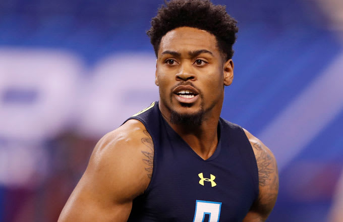 Ohio State Buckeyes defensive back Gareon Conley at the NFL Combine.