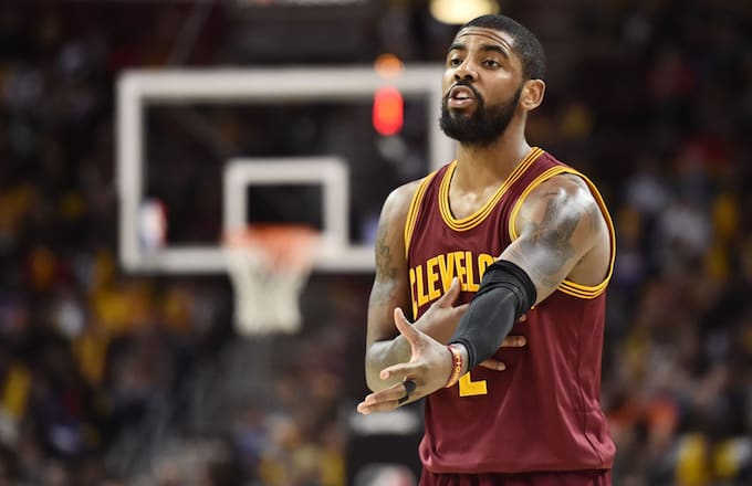 Kyrie Irving makes his case on court.