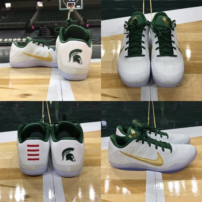 promo code 1891f 8bcc1 Nike Kobe 11 Michigan State Spartans