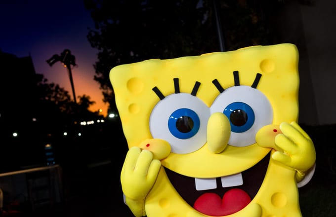 Spongebob Squarepants at the 2017 Princess Grace Awards Gala Kick Off Event