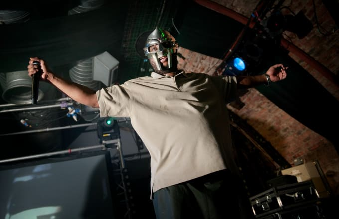 Rapper Doom performs on stage at The Arches