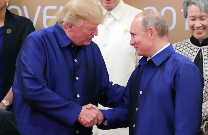 Donald Trump and Vladimir Putin in Vietnam.