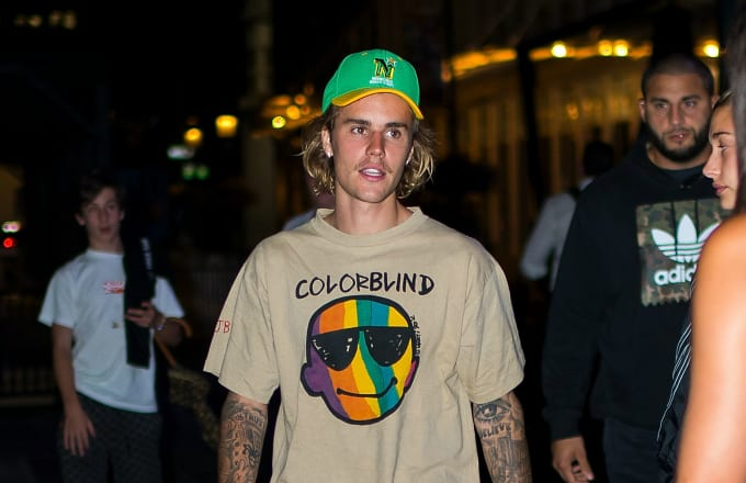 Justin Bieber is seen in the Financial District on August 13, 2018