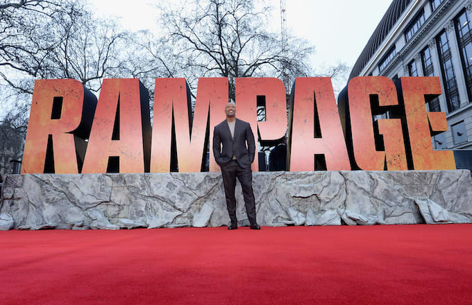 Dwayne johnsons rampage could be rotten tomatoes highest rated dwayne johnson rampage rating stopboris Images