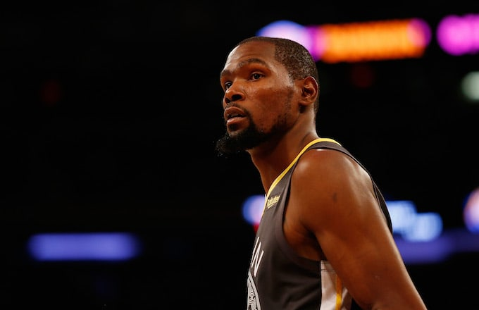 cc21906149db Kevin Durant in action against the Knicks at Madison Square Garden.