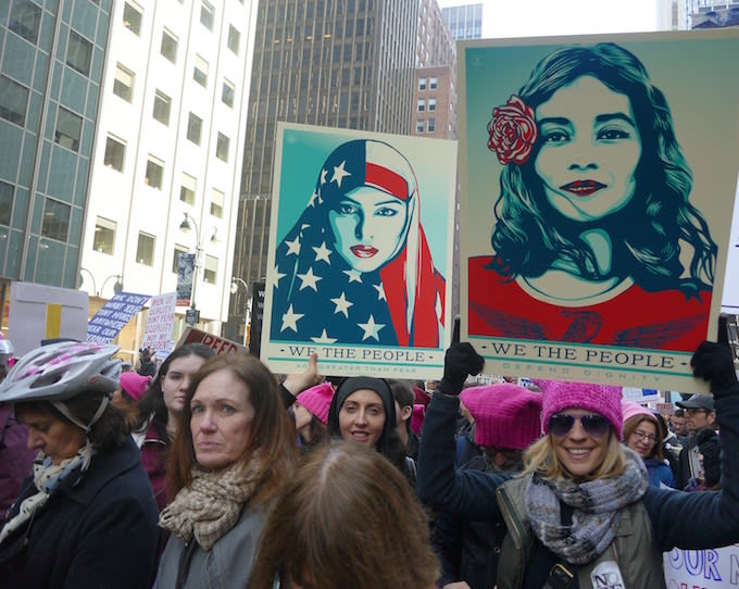 The 2017 Women's March in New York.