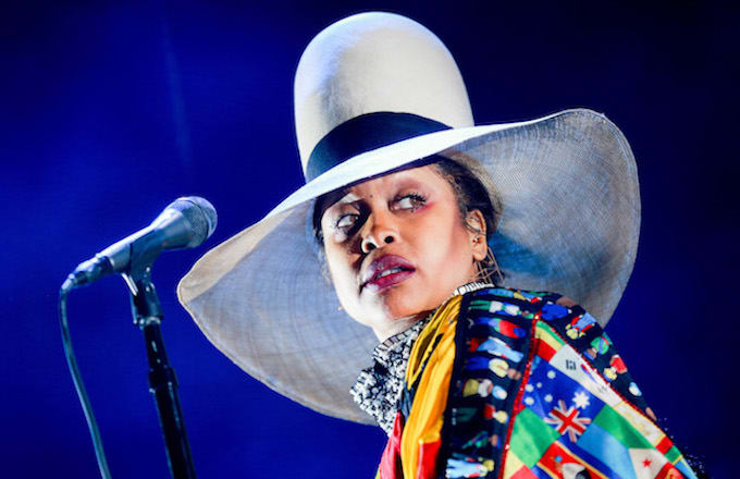 Erykah Badu performs at the FYF Fest 2017.