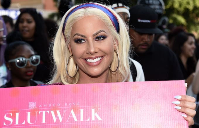 Amber Rose at the thrid annual SlutWalk.