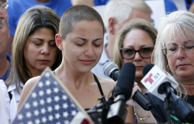 This is a photo of Florida shooting survivor and gun-control advocate Emma Gonzalez