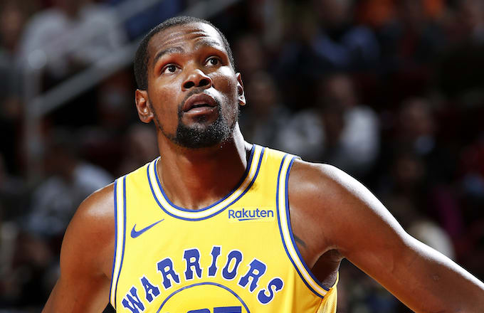 Kevin Durant #35 of the Golden State Warriors.