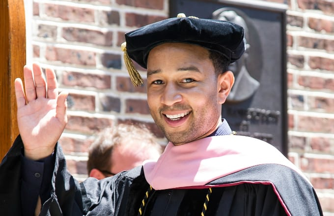 Singer-songwriter John Legend receives an honorary doctorate of music