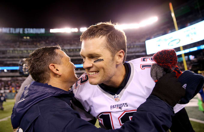 Tom Brady and Alex Guerrero