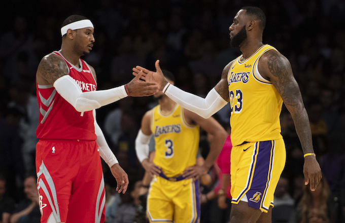 5b0e522a8453 Report  LeBron James Wants Lakers to Sign Carmelo Anthony