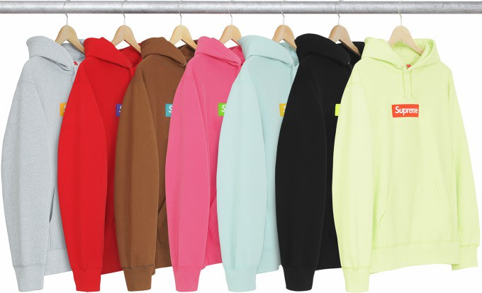 Supreme sweatshirts.