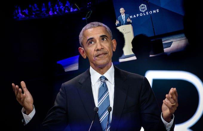 President Barack Obama during the Napoleons 2018 at Maison de la Radio