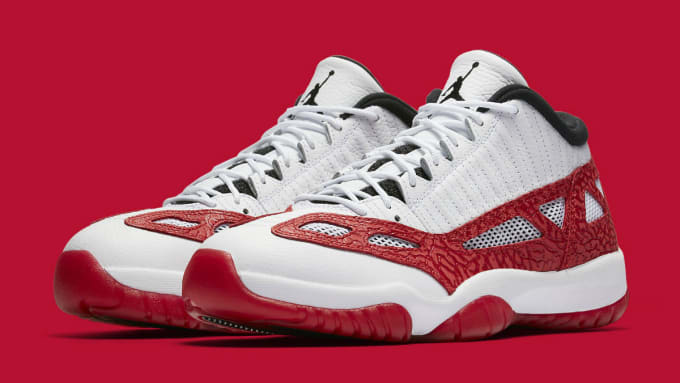 7edf57f8aa9 Air Jordan 11 XI Low IE White Gym Red Black Release Date Main 919712-101.  Images via Nike