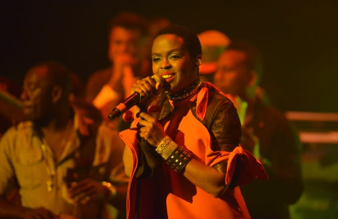 Lauryn Hill performs during a recent concert in Miami.
