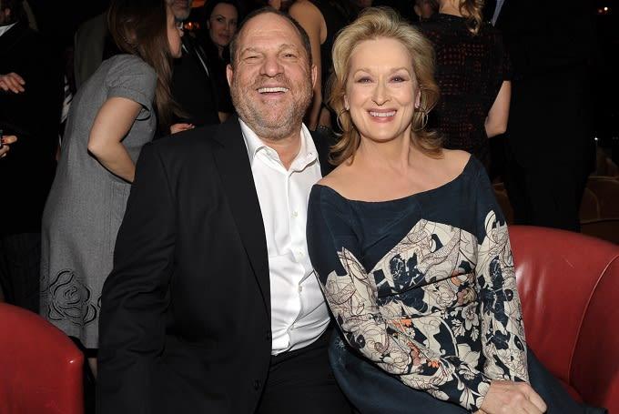 Meryl Streep with Harvey Weinstein