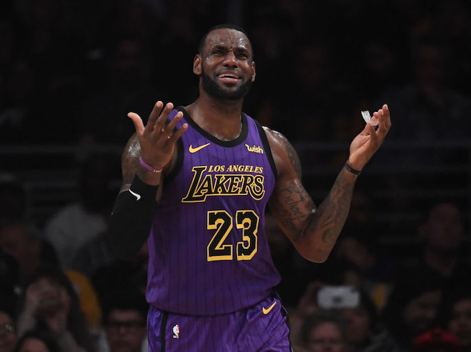 7d24b30bcf3 This is LeBron James. Kevork Djansezian Getty Images. The Los Angeles Lakers   ...
