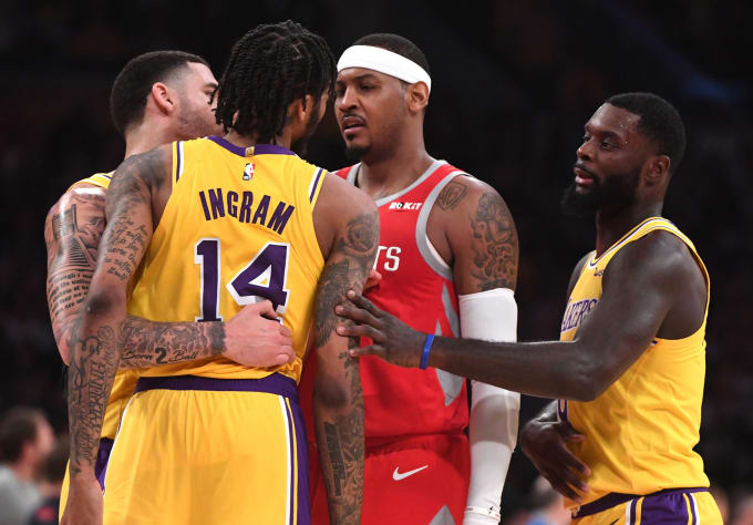 Carmelo Anthon Brandon ingram Lakers Rockets 2018