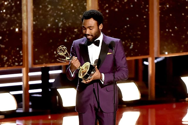 Donald Glover accepts the Outstanding Directing for a Comedy Series Emmy for 'Atlanta'