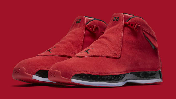 b45340a60418 Air Jordan 18 XVIII Toro Gym Red Release Date AA2494-601 Main