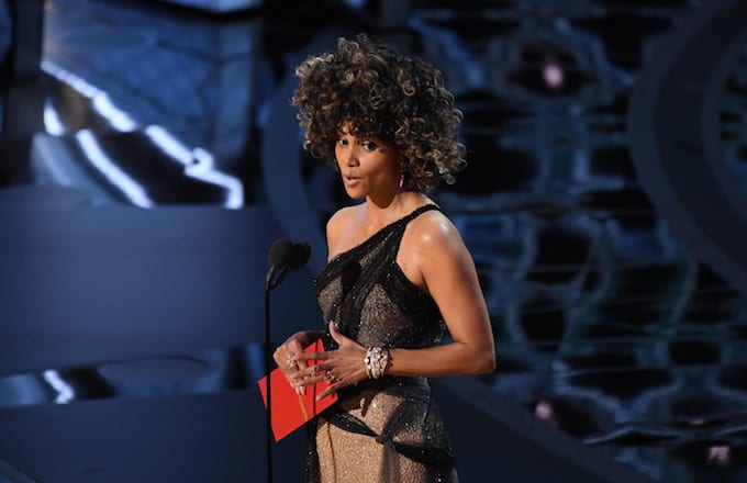 Halle Berry presents at 2017 Academy Awards.