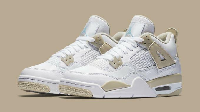 Air Jordan 4 Girls Linen Release Date Main 487724-118