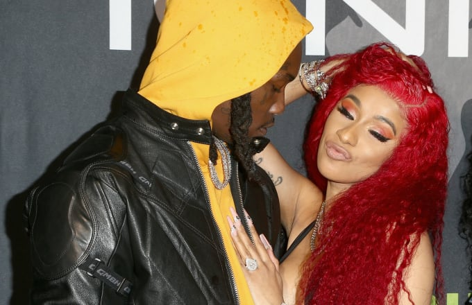 Offset and Cardi B attend Ignite Angels and Devils Pre-Valentine's Day Party