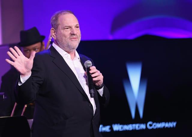 Harvey Weinstein speaks onstage at The Weinstein Company's Pre-Oscar Dinner