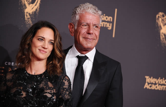 Asia Argento and Anthony Bourdain/