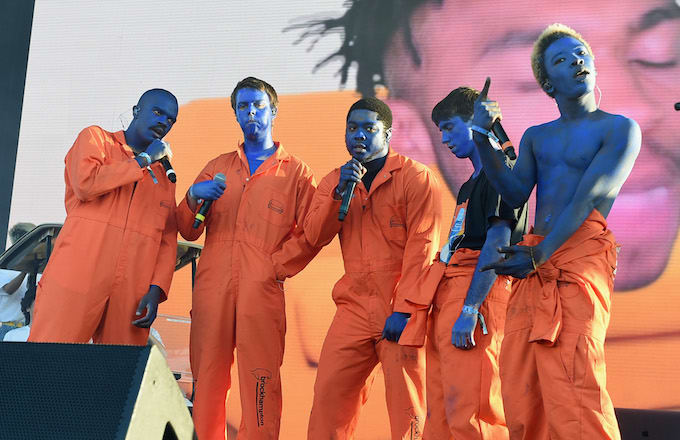 Brockhampton performs on Camp Stage during day 1 of Camp Flog Gnaw Carnival 2017.
