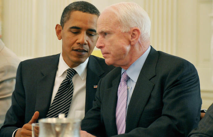 Obama, John McCain eulogy