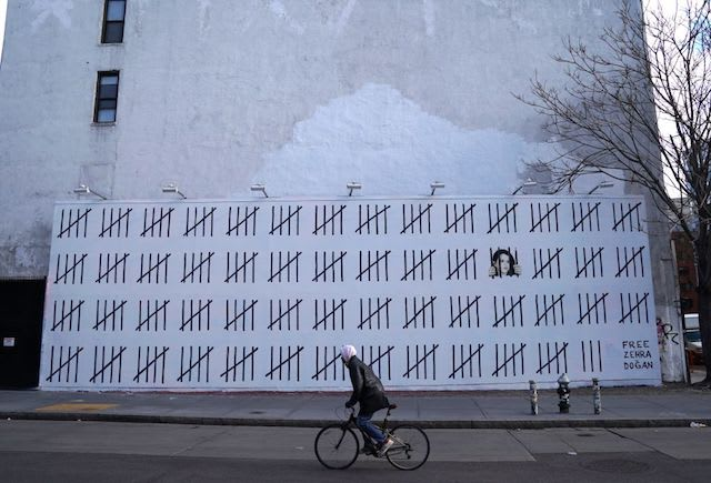This is a picture of Banksy.