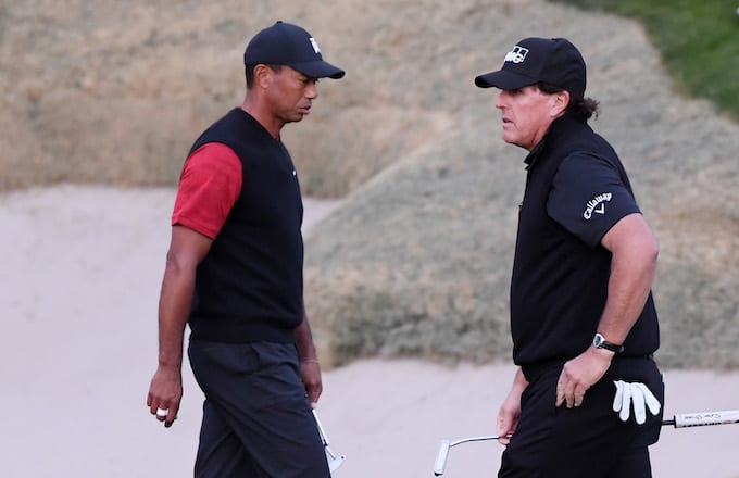 Tiger Woods and Phil Mickelson.