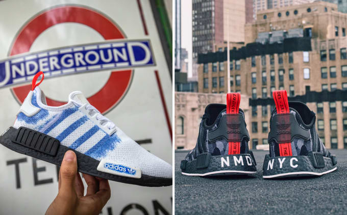 0ca43a652a9c42 adidas and Foot Locker Europe Combine for the NMD  Printed Series  Inspired  by London and NYC