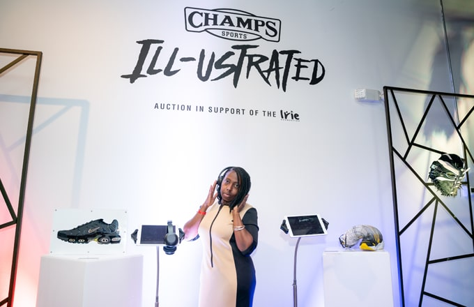 fa68f50c3b7 PROMO  Champs Sports Kicked off Art Basel with  Ill-ustrated ...