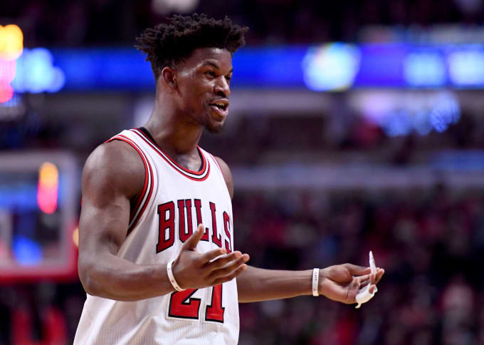 Jimmy Butler Chicago Bulls Sixers 2017