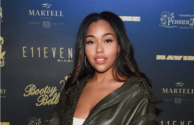 Jordyn woods attends French Montana Performance