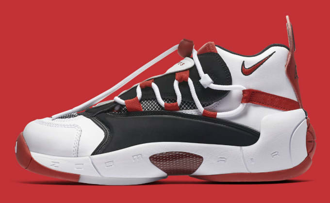 c6d5fa60b32 Nike Air Swoopes 2 II White Red Release Date 917592-100 Profile