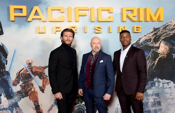 'Pacific Rim Uprising' stars Scott Eastwood and John Boyega with director Steven S. DeKnight