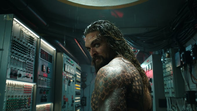 Jason Momoa in 'Aquaman'