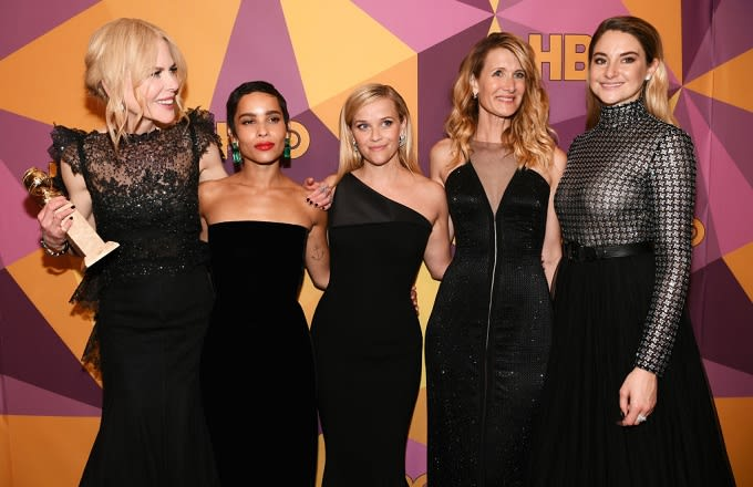 'Big Little Lies' cast dressed in black