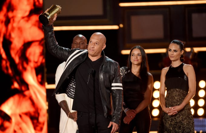 Vin Diesel accepts the MTV Generation Award