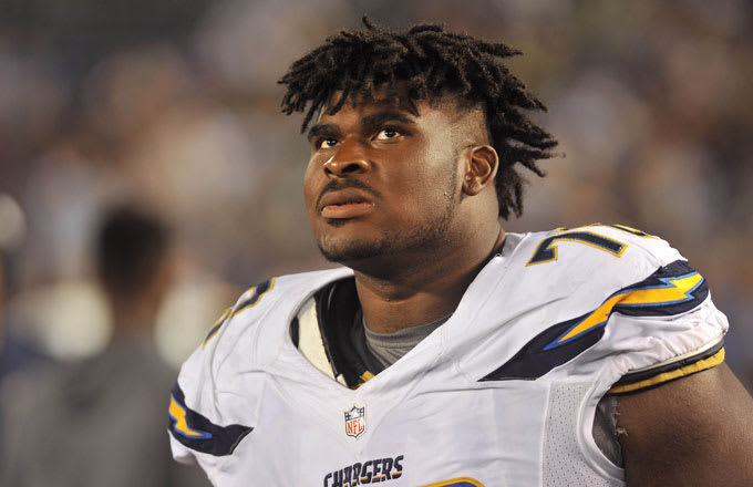 D.J. Fluker of the San Diego Chargers.