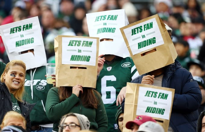 Image result for jets fans bags over their heads