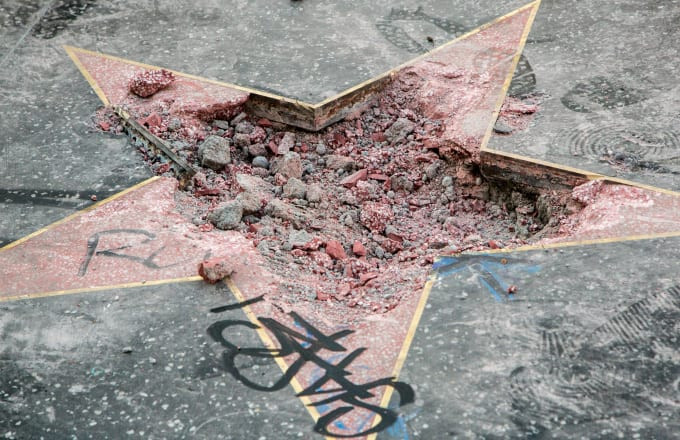 Donald Trump's Hollywood Walk of Fame Star is vandalized