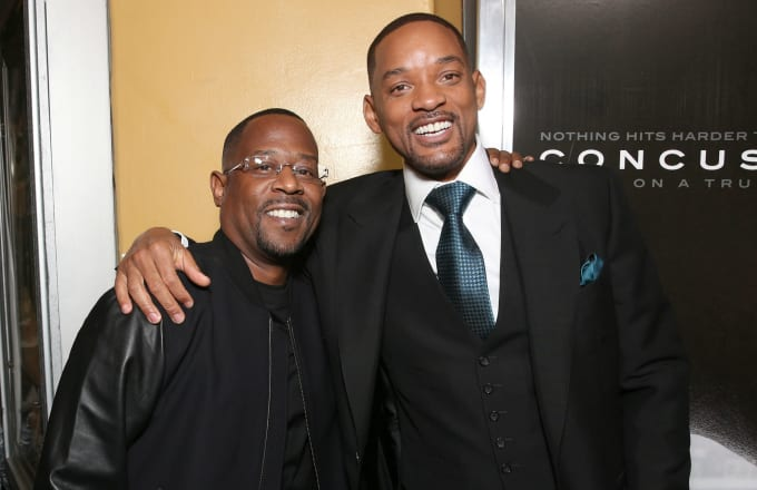 Martin Lawrence and Will Smith attend a screening